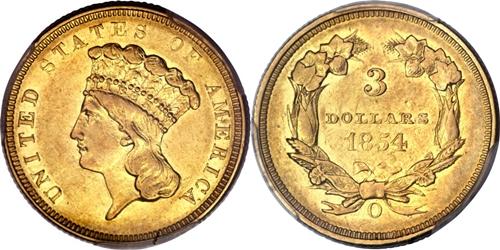 $3 Indian Head Princess Gold Coin Grading Image