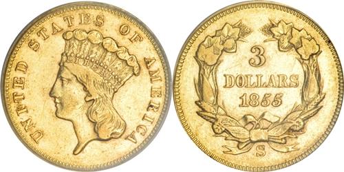 $3 Indian Princess Head Gold EF45 Grading Image