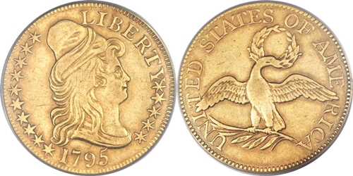 $5 Capped Right Gold Coin EF45 Grade Image