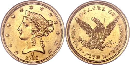 Liberty Head Gold Coin $5 Grading Image