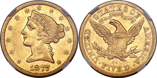Liberty Head $5 Gold Coin VF35 Grading Image