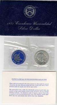 1971 40% Silver Blue Ike Eisenhower Image
