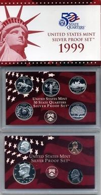 1999-S Silver Proof Set Image 90% Silver