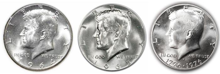Silver Kennedy Half Dollar Images