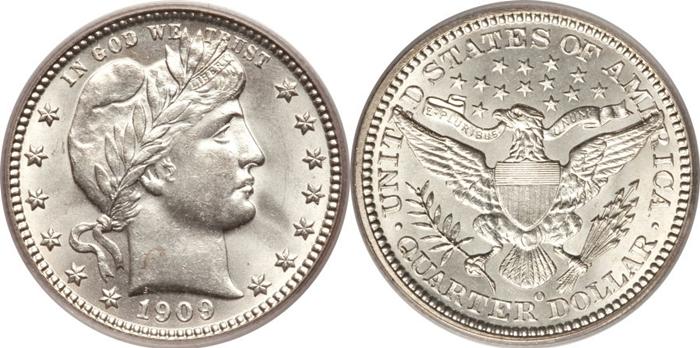 MS63 Mint State Grade Barber Quarter Image