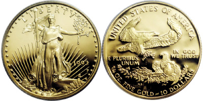 Most valuable $10 Gold American Eagle values