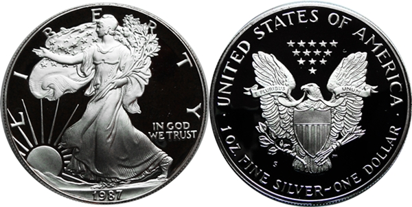 1987 Deep Cameo American Silver Eagle