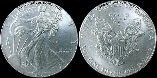 Image of a fake SAE American Silver Eagle
