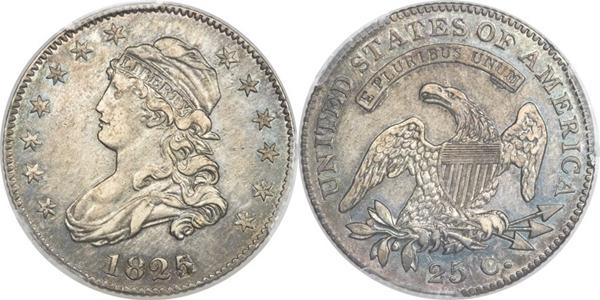 EF45 Grade Capped Bust Quarter Image