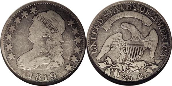 F12 Grade Capped Bust Quarter Image