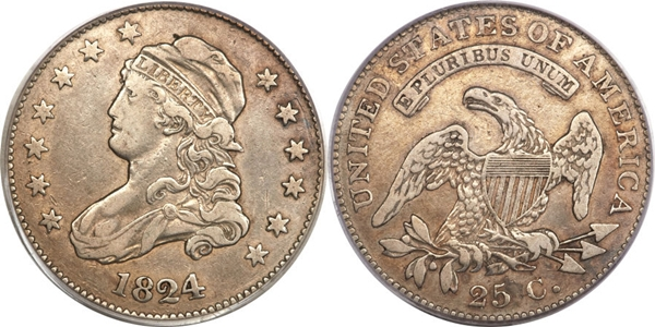 VF35 Grade Capped Bust Quarter Image