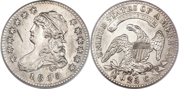 MS63 Grade Capped Bust Quarter Image