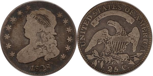 VG8 Grade Capped Bust Quarter Image