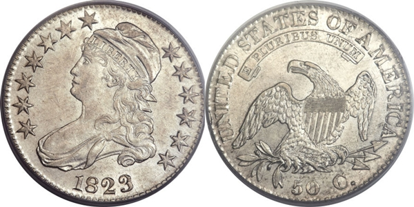 AU55 Capped Bust Half Dollar Image