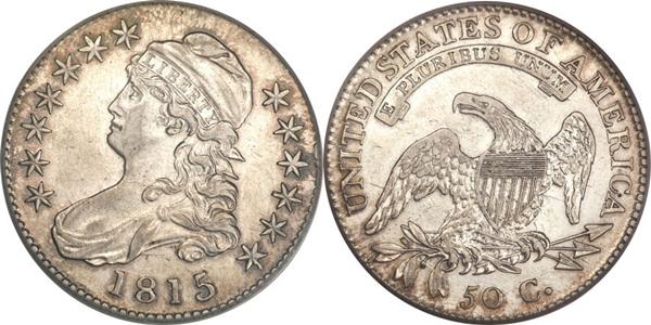 EF45 Capped Bust Half Dollar Image