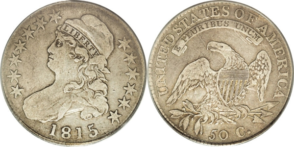 F12 Capped Bust Half Dollar Image