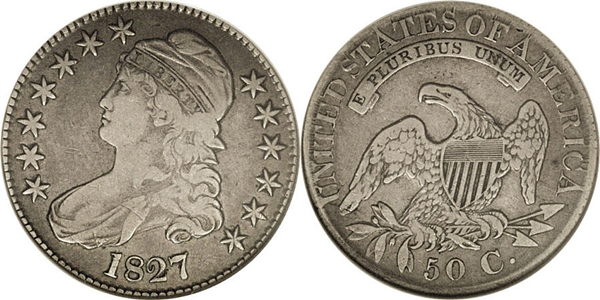 VF25 Capped Bust Half Dollar Image