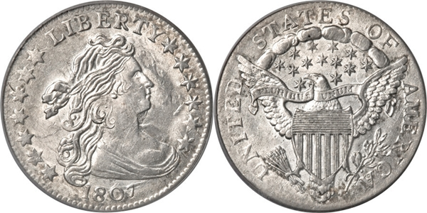 MS63 Grade Draped Bust Dime Image