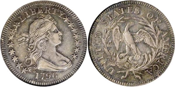 AU55 Grade Draped Bust Quarter Image
