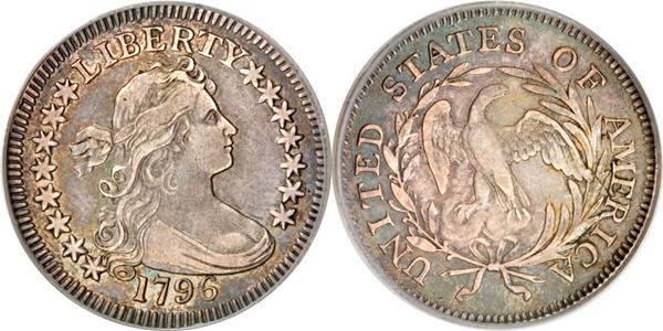 VF35 Grade Draped Bust Quarter Image
