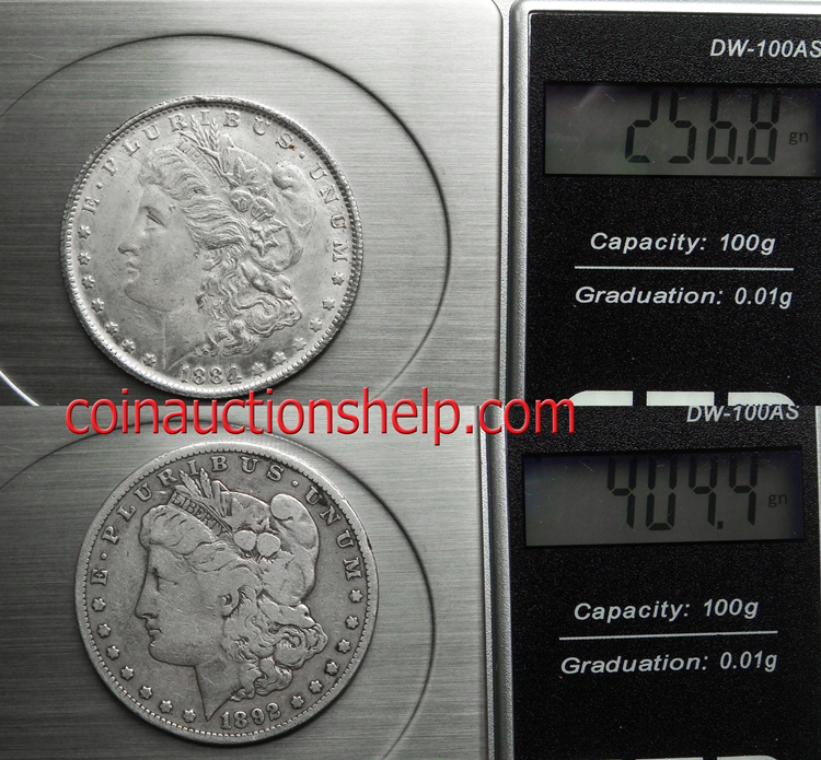 What do fake counterfeit Morgan Dollars weigh