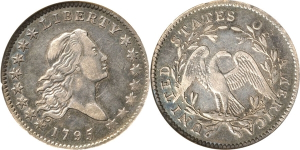EF45 Flowing Hair Half Dollar Image
