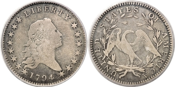 F12 Flowing Hair Half Dollar Image