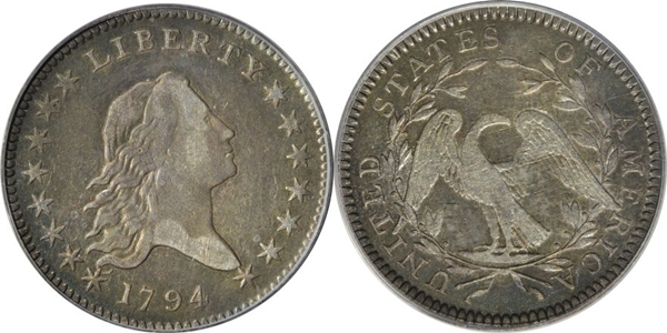VF30 Flowing Hair Half Dollar Image