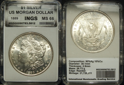 INGS International Numismatic Grading Service Holder Image