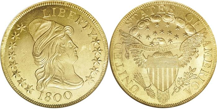 Turban Head Eagle 10 Gold 1795 1807 Us Coin Images Facts
