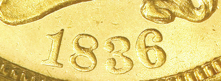1836 Classic Head Gold Script 8 Variety Image