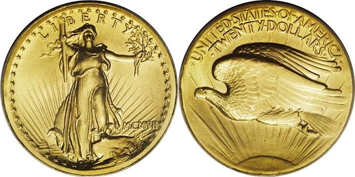 Most valuable $20 Saint Gaudens Double Eagle gold coin values