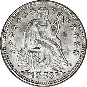 1853 Seated Dime Arrows At Date Image
