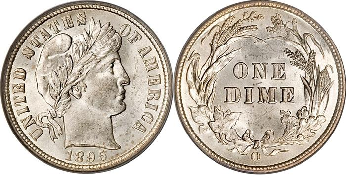 1895-O Barber Dime Key Date Image
