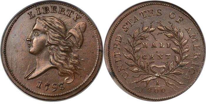 1793 Liberty Cap Half Cent Values