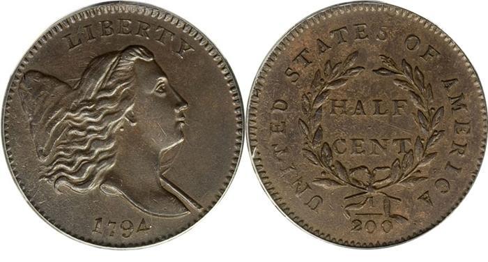 1794 Liberty Cap, Facing Right, Half Cent Image