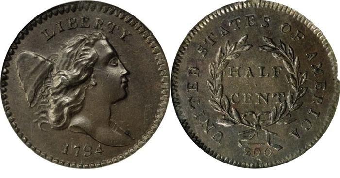 1794 High Relief Half Cent