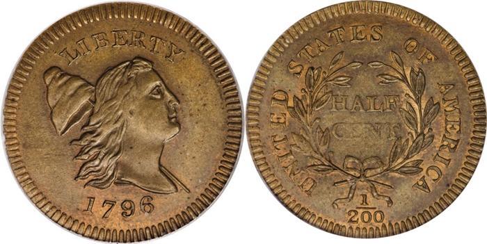 1796 Edwards Copy Half Cent