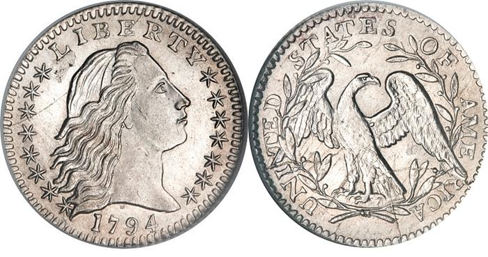 1794 Flowing Hair Half Dime Image