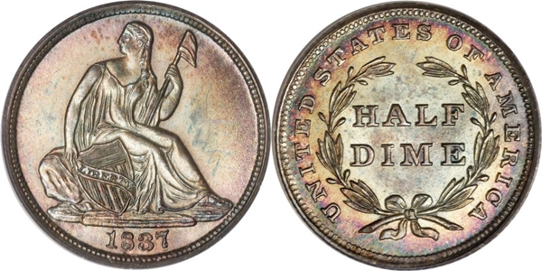 1837 Seated Half Dime No Stars Image