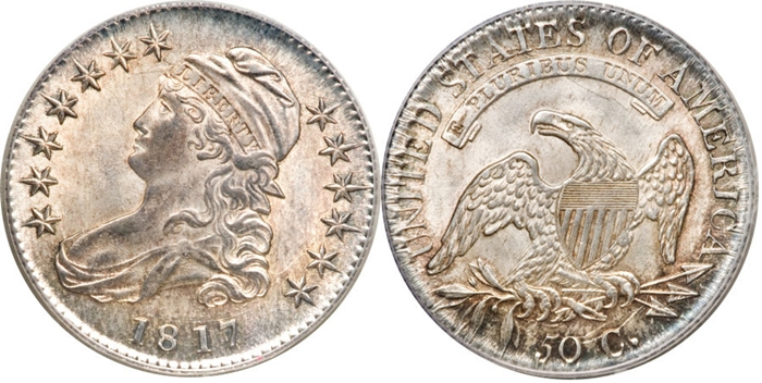 Most valuable Capped Bust Half Dollar values