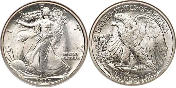 1917-S Walking Liberty Half Dollar Image