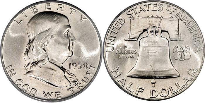 Most valuable Franklin Half Dollar values
