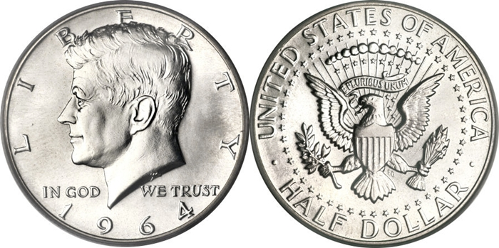 1964 SMS MS67 Kennedy Half Dollar Image