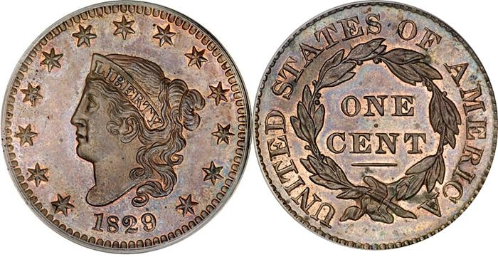 1829 Matron - Coronet Head Large Cent Image