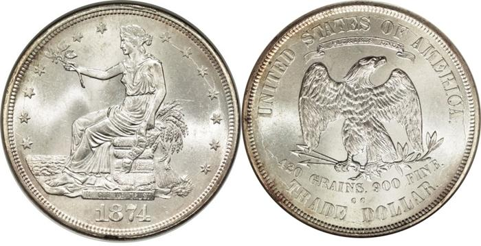 1874-CC Trade Dollar Image
