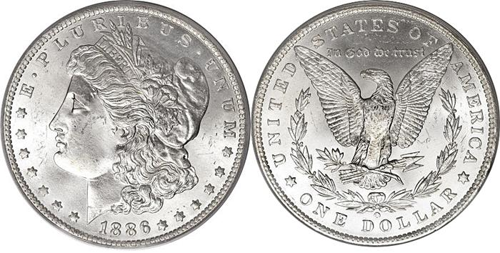 1886 Morgan Dollar Image