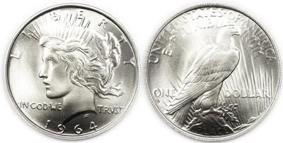 1964 Peace Dollar Daniel Carr Restrike
