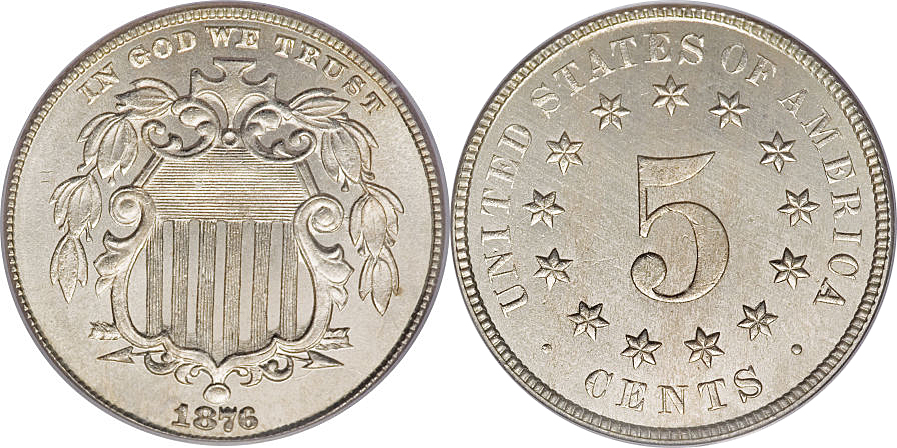 1876 Shield Nickel Image