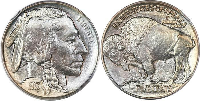 1913 Buffalo Nickel Type 1 On A Mound Image